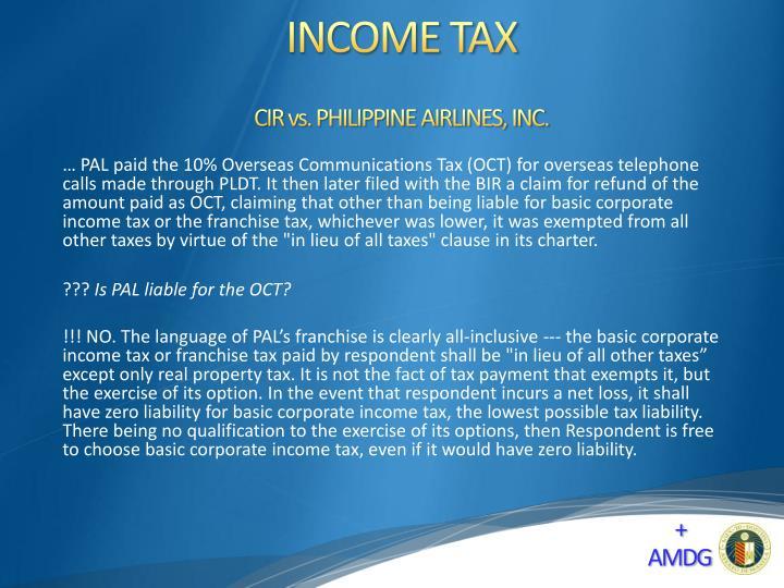 CIR vs. PHILIPPINE AIRLINES, INC.