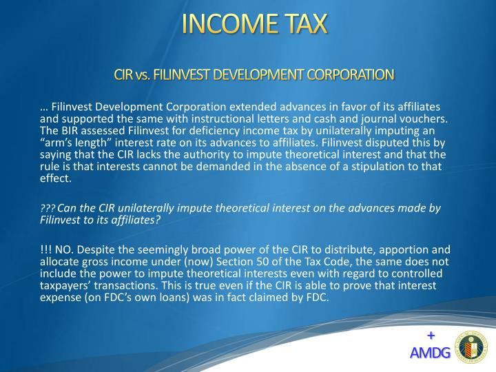 CIR vs. FILINVEST DEVELOPMENT CORPORATION