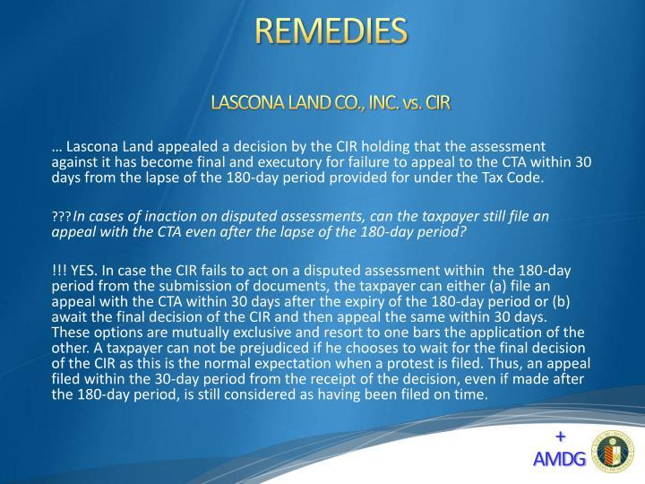 LASCONA LAND CO., INC. vs. CIR