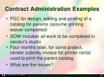 contract administration examples
