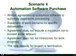 scenario 4 automation software purchase