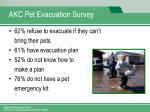 akc pet evacuation survey