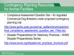 contingency planning resources for animal facilities