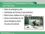 importance of preparedness for people and their pets