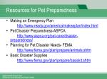 resources for pet preparedness