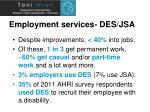 employment services des jsa