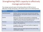 strengthening ifad s capacity to effectively manage partnerships