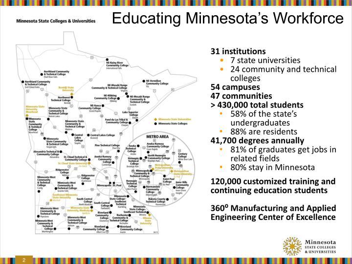 Educating minnesota s workforce