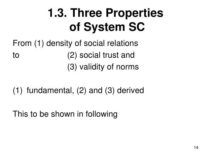 1.3. Three Properties