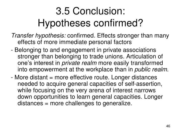 3.5 Conclusion: