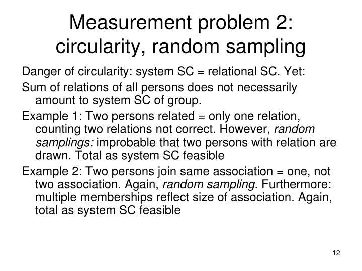 Measurement problem 2: