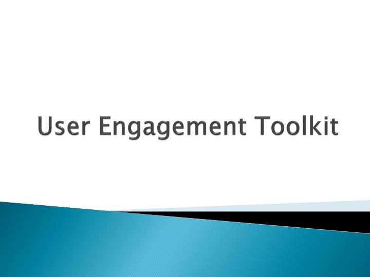 user engagement toolkit n.