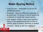 basic buying motive