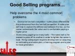 good selling programs