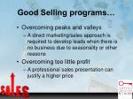 good selling programs1