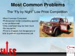 most common problems