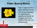 power buying motive