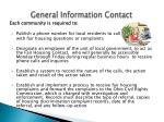 general information contact