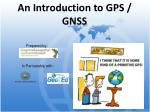 an introduction to gps gnss