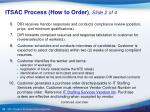itsac process how to order slide 2 of 4
