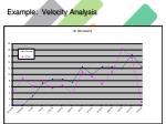 example velocity analysis