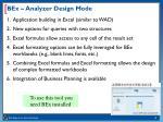 bex analyzer design mode