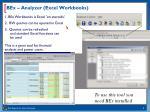 bex analyzer excel workbooks