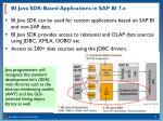 bi java sdk based applications in sap bi 7 x