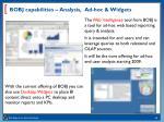 bobj capabilities analysis ad hoc widgets