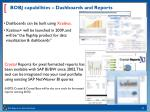 bobj capabilities dashboards and reports