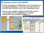 creating new data inside sap bi