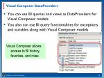 visual composer dataproviders