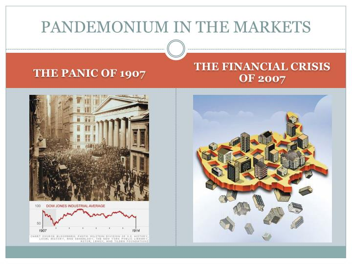pandemonium in the markets n.