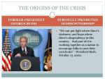the origins of the crisis1