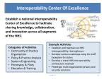 interoperability center of excellence
