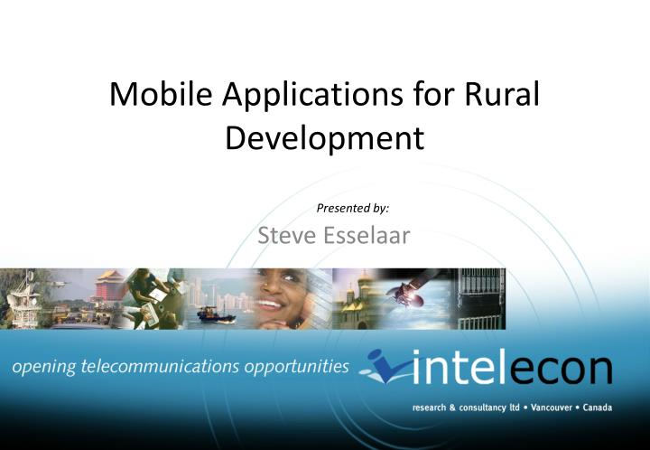 mobile applications for rural development n.