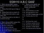 ss8h10 a b c quiz