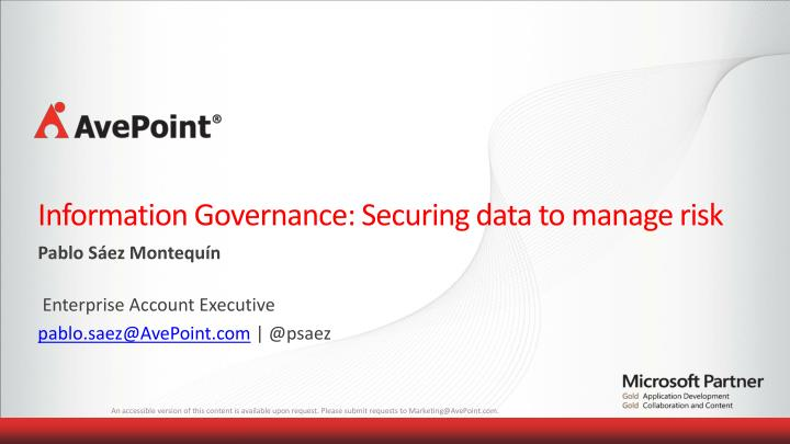 information governance securing data to manage risk n.