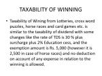 taxability of winning