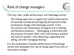 role of change managers