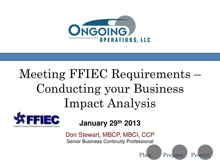 meeting ffiec requirements conducting your business impact analysis n.