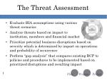 the threat assessment