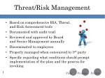 threat risk management