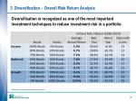 3 diversification overall risk return analysis