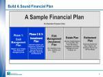 build a sound financial plan