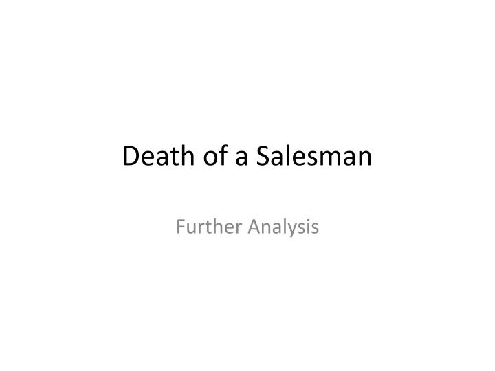 death of a salesman n.