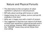 nature and physical pursuits