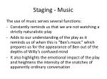 staging music