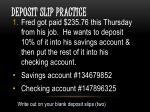 deposit slip practice2