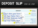 deposit slip step by step